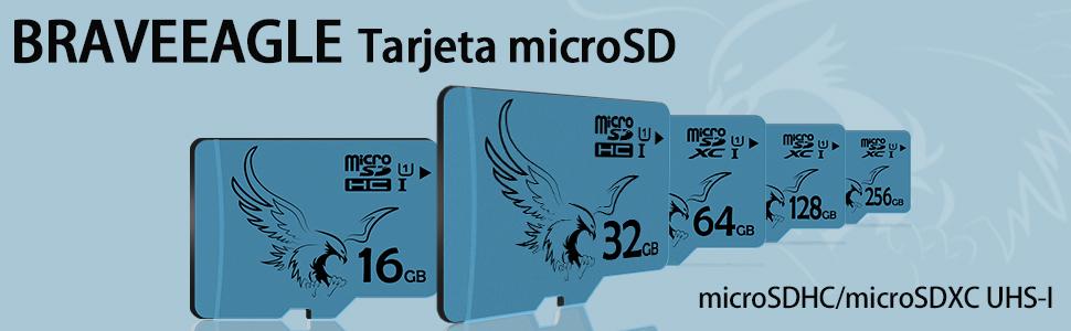 BRAVEEAGLE 2 Piezas Tarjeta Micro SD Tarjeta microSDHC 32GB Clase 10 para Wyze CAM/GoPro (2 Piezas x 32 GB U1)