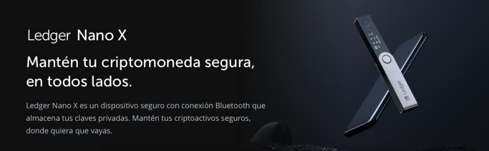 Ledger Nano X - Monedero Hardware de criptomonedas - Bluetooth