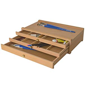 caja de almacenamiento 3 cajones compartimentos caja de dibujo caja de arte