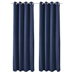 Beautissu Set de 2 Cortinas térmicas Amelie TO 140x245 cm de ...