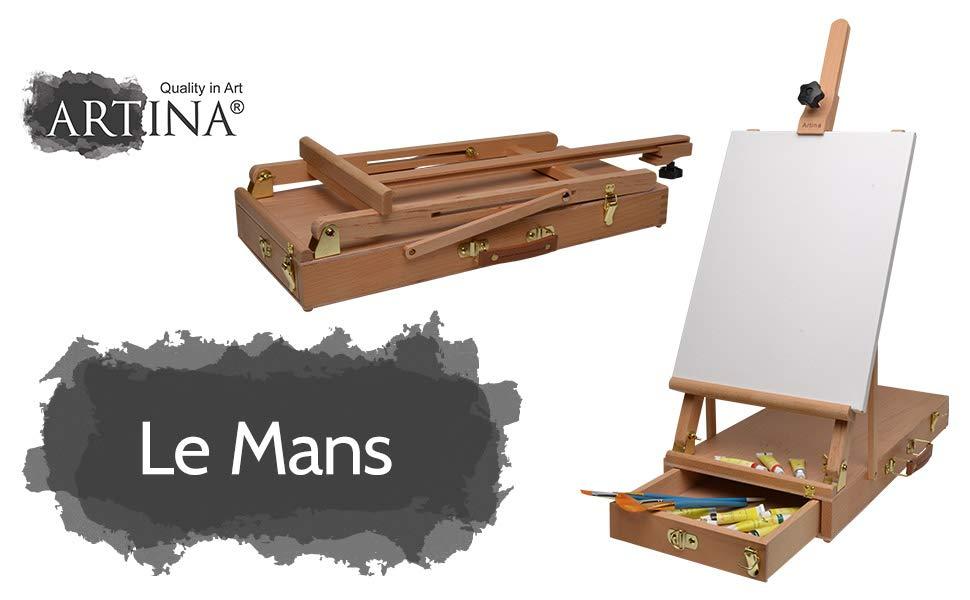 Artina Le Mans - Caballete de Pintura maletín de Mesa - Madera de ...