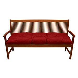 Beautissu Cojines para Bancos Flair BK 180x50x10 cm Cómodo Acolchado Banco de jardín/Columpio Hollywood Rojo