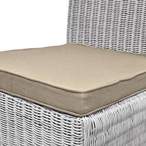 Beautissu Loft SK Set de 4 Cojines Almohadas para sillas Asientos 45x40x5 Natural Elegantes y Modernos