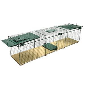 trampa para animales vivos grandes conejos gatos liebres martas zorros conejos suelo de madera