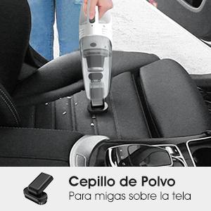 SUAOKI Aspirador de Coche 5.5Kpa, Uso húmedo y seco, aspiradora 12V, 120W con HEPA Filtro de Acero Inoxidable, 500ml, 4m de Cable, Aspirador de Mano portátil: Amazon.es: Coche y moto