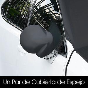 SUAOKI Protector Parabrisas Reversible, Cubierta Parabrisas de Nieve, Sol, Viento y Lluvia, Coche con Gancho y Sombrilla Impermeable con Correas ...