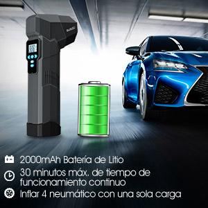 compresor aire portatil bateria coche inflador electrico