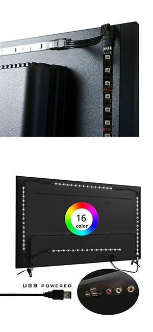 Simfonio Tiras LED 2M Retroiluminación LED de TV USB Tira De Luz ...