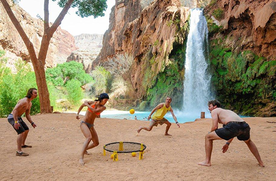 Spikeball - Juego de 3 Bolas - para Jugar al Aire Libre o a Cubierto, sobre el césped, en el Pista, la Playa, el Parque. Incluye 3 Bolas, Bolsa para transportarlo y
