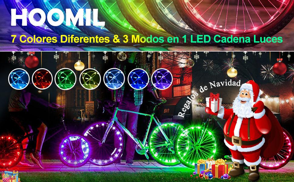 Luces de rueda LED para bicicleta HOOMIL ---- 2018 las luces de bicicleta más nuevas y más calientes para ruedas.