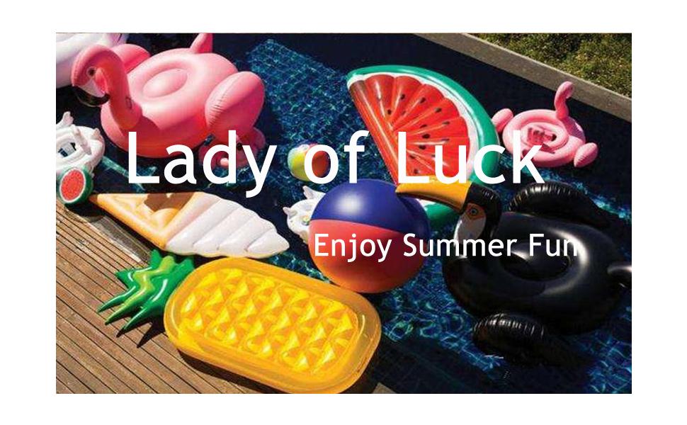 Lady of Luck Flotador Unicornio, Jugar En La Playa y Usted con ...