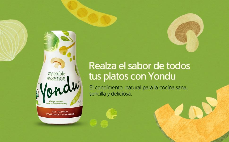 yondu, rico, sabroso, sano, saludable, fácil, rápido, condimento, potenciador del sabor natural