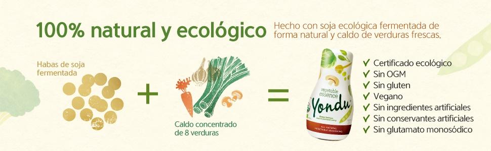 Yondu, sabroso, saludable, fácil, rápido, mejora recetas, condimento, aderezo, 100% natural, umami