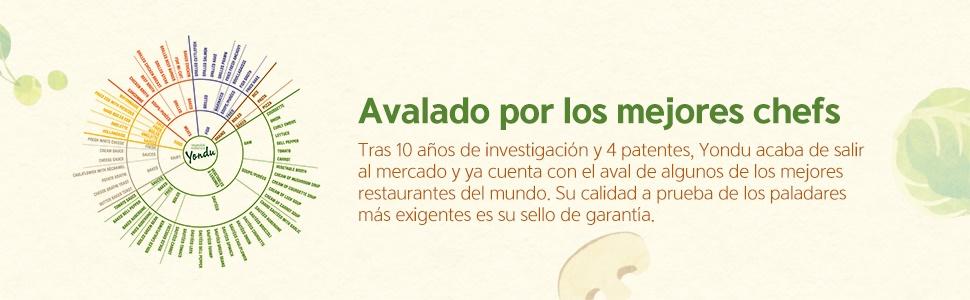 Yondu, sabroso, saludable, fácil, rápido, mejora recetas, condimento, aderezo,100% natural, top chef