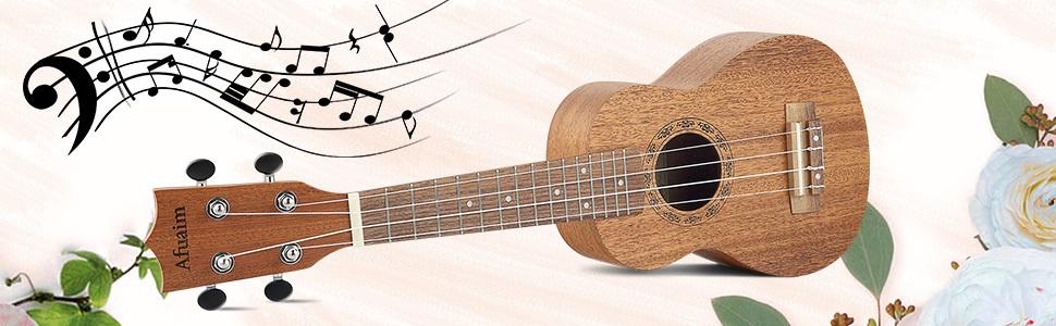 Este ukelele de Afuaim proporciona un sonido increíble.