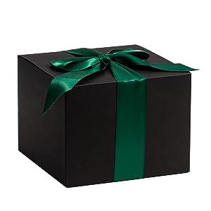 RUSPEPA Cajas De Regalo De Cartón Reciclado: Caja Decorativa con Tapas para Regalos, Fiesta, Boda - 23X11.5X11.5 Cm - Paquete De 30 - Negro: Amazon.es: Hogar