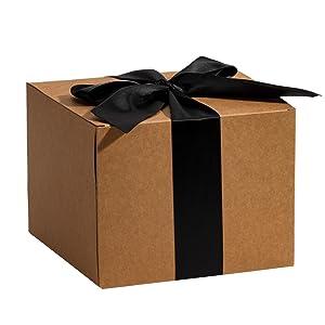 RUSPEPA Cajas De Regalo De Cartón Reciclado: Caja Decorativa con Tapas para Regalos, Fiesta, Boda - 23X11.5X11.5 Cm ...