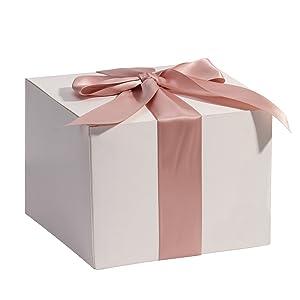 RUSPEPA Cajas De Regalo De Cartón Reciclado - Cajas De Regalo Cuadradas Pequeñas con Tapas para Fiestas Y Manualidades - 8X8X8 Cm - Paquete De 20 - ...