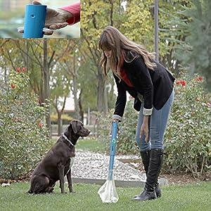 Accesorio de perros Kanxeto recogedor plegable recoge excrementos