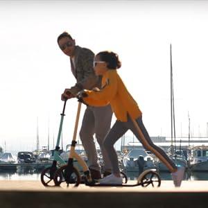 20 twenty go Patinete Scooter Urbano, Patinete Adulto y Niño, Ajustable en Altura Desde 83 cm hasta 105 cm, Scooter Plegable, Scooter Ruedas Grandes, ...