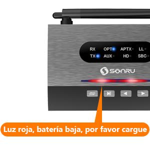 SONRU Adaptador Bluetooth 5.0 Receptor Transmisor de Largo Alcance ...