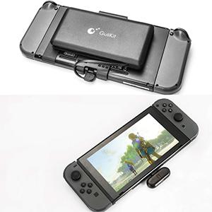 Nintendo NS Switch portátil Adaptador de Auriculares inalámbrico Bluetooth para Audio, Tarjeta de Sonido aptX de Baja latencia Bluetooth para Nintendo ...
