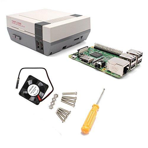 YIKESHU Raspberry Pi 3 Modelo B y NESPI Case y Pequeño Ventilador ...