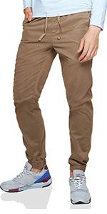 Matchstick Pantalón chino tapered para hombre #8025(Azul ...