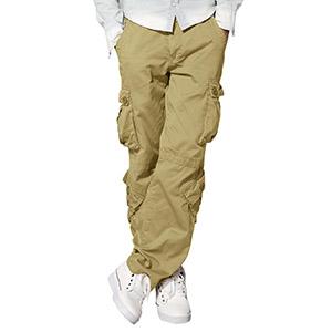 Match 3357 - Pantalones Cargo Casual Múltiples Bolsillos para Hombre