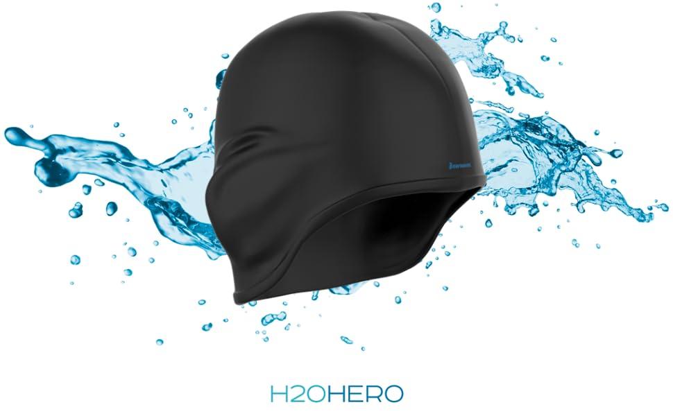 Earwaves ® H2O - Gorro de natación ergonómico con cavidad