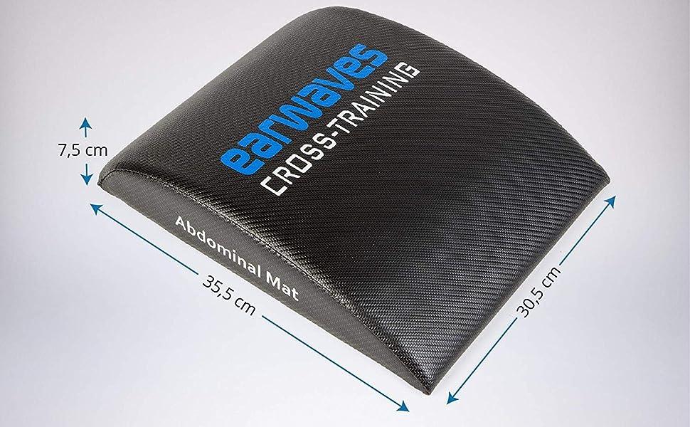 Earwaves ® Carbon Abmat - AB Mat Esterilla para Crossfit. Colchoneta Almohadilla Fitness para Entrenamiento de Abdominales y Core.