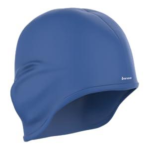Earwaves ® H2O - Gorro de natación ergonómico con cavidad para Orejas. Gorro de Piscina para Hombre y Mujer Hecho de Silicona Ideal para Pelo Largo y Corto. Incluye Tapones y Clip