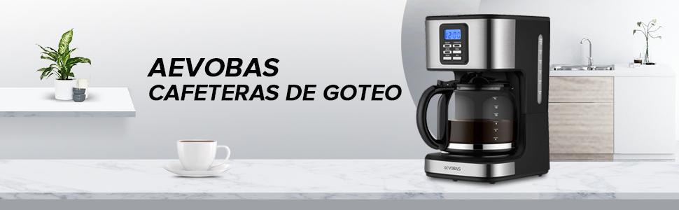 AEVOBAS Cafetera de Filtro, Cafetera de Goteo Programable para 12 ...