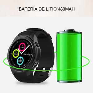 Usa su reloj por más tiempo que nunca con una nueva y mejorada batería de 480mAh.