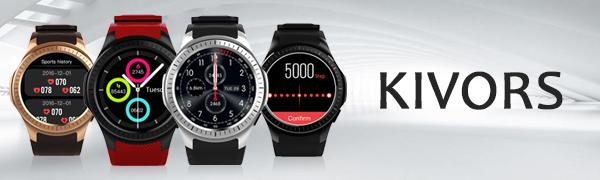 L1 reloj inteligente construido para deportes. El reloj inteligente puede ser usado como un teléfono celular directamente.