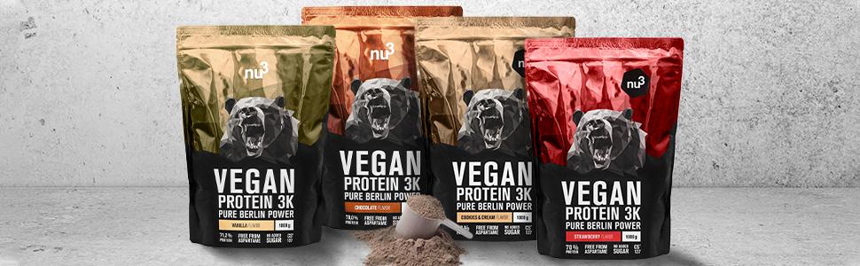 Proteína vegana de tres componentes. La vegan protein de mayor calidad