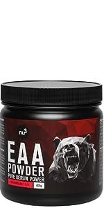 nu3 BCAA en polvo - 40 porciones de aminoácidos ramificados ...