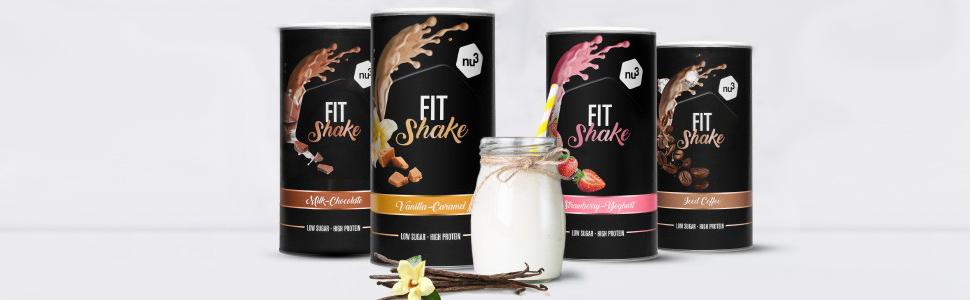 nu3 Fit Shake sabor Chocolate 450g – Batido de proteína para adelgazar - con 72% de suero de leche y colágeno hidrolizado – Suplemento deportivo con ...