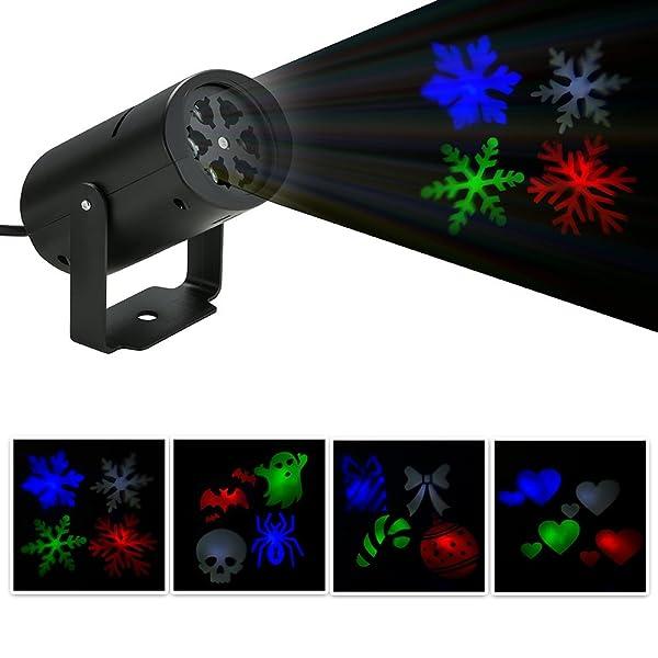 Bloomwin Proyector Lámpara Foco de Exterior Paisaje LED proyector ...