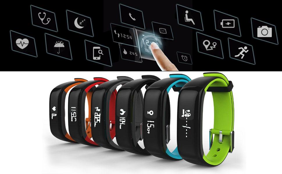 Reloj Resistente Pulsera Actividad Bluetooth Podómetro Deporte ...