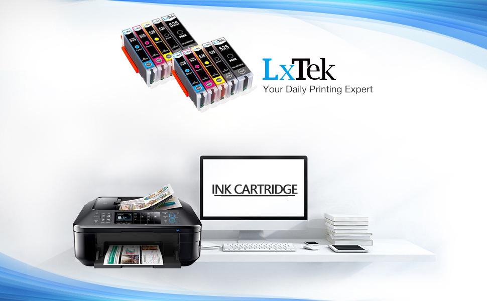 LxTek Compatible para Canon PGI-525 CLI-526 Cartuchos de Tinta ...