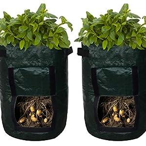 LOBKIN Bolsas de Cultivo de Papa, Bolsas de Cultivo de hortalizas para jardín Bolsa Maceta con Solapa Patata a Prueba de Agua Bolsas de Cultivo ...