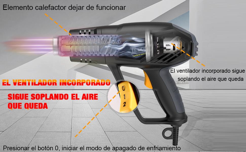 TECCPO TAHG01P Pistola de Aire Caliente