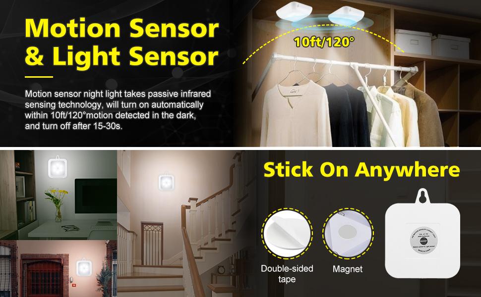 Luz LED de la noche sensor de Efleland, ya no tiene miedo a la oscuridad