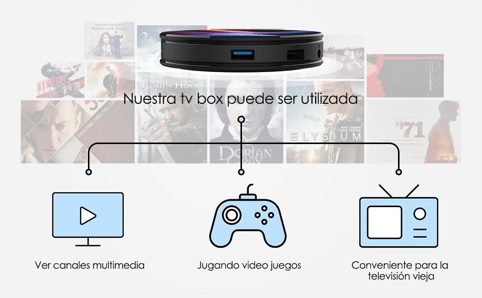 Promoción】 Android 10.0 TV Box 【4GB RAM+32GB ROM】 Bqeel Android TV Box RK3318 Quad-Core 64bit Cortex-A53 Soporte 2k*4K, WiFi 2.4G/5G,BT 4.0 , USB 3.0 Smart TV Box: Amazon.es: Electrónica