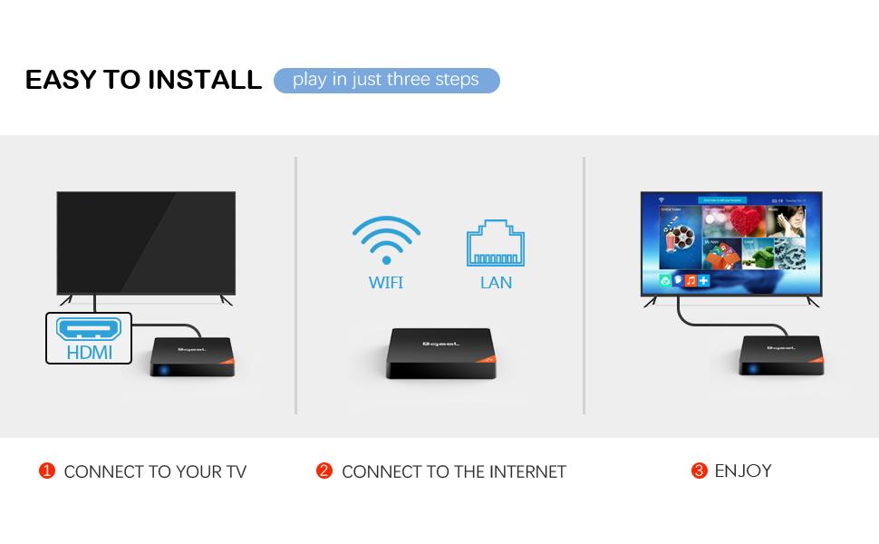 Smart TV Box -Bqeel Y5 Android 8.1 TV Box de Amlogic S905X2 Quad ...