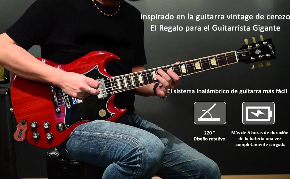 transmisor receptor de guitarra