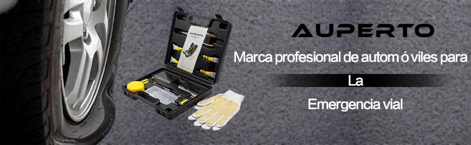 El kit de reparación de neumáticos AUPERTO de 65 piezas incluye todas las herramientas y piezas que necesita (incluidos guantes de goma para mantener sus ...