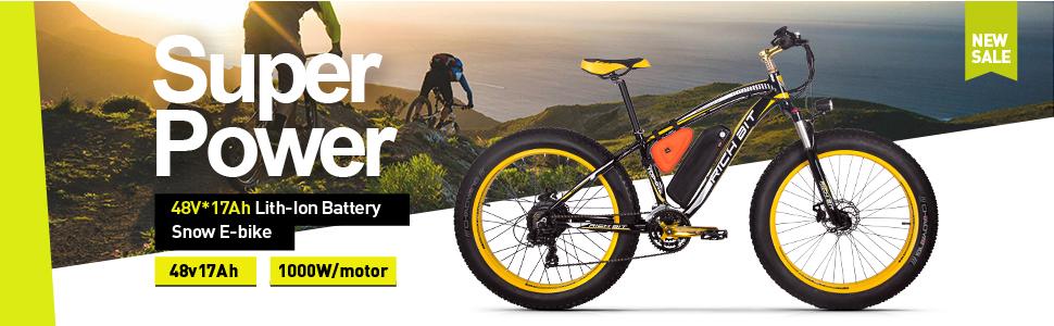 Eléctricas Bicicletas TP022 1000W Pantalla LCD Ciclismo de nieve en invierno & Playa de mar Ciclismo en verano & Ciclismo diario en aire libre