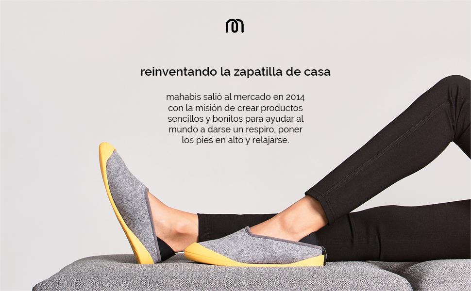 Mahabis Larvik Light Grey Classic Zapatillas en talla 38 EU Q2UF02